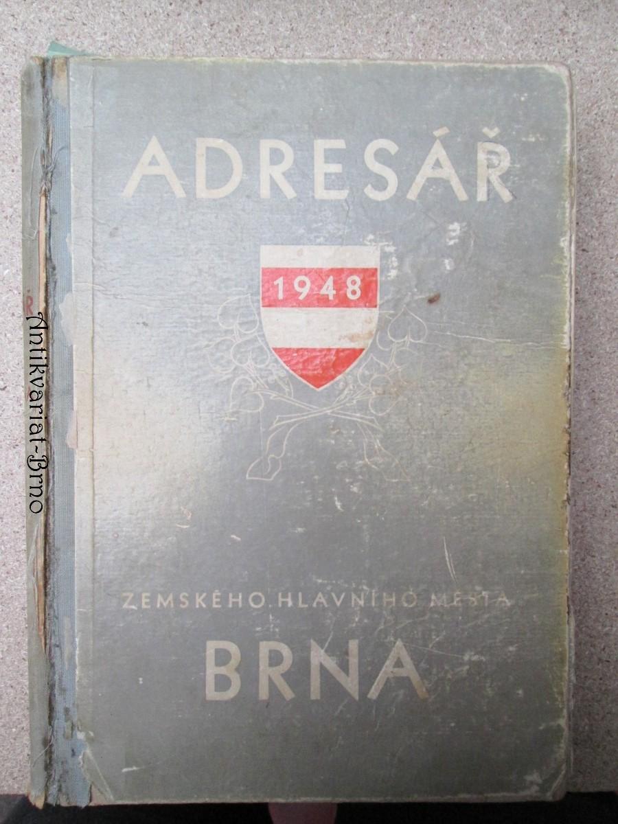 Adresář zemského hlavního města Brna 1948