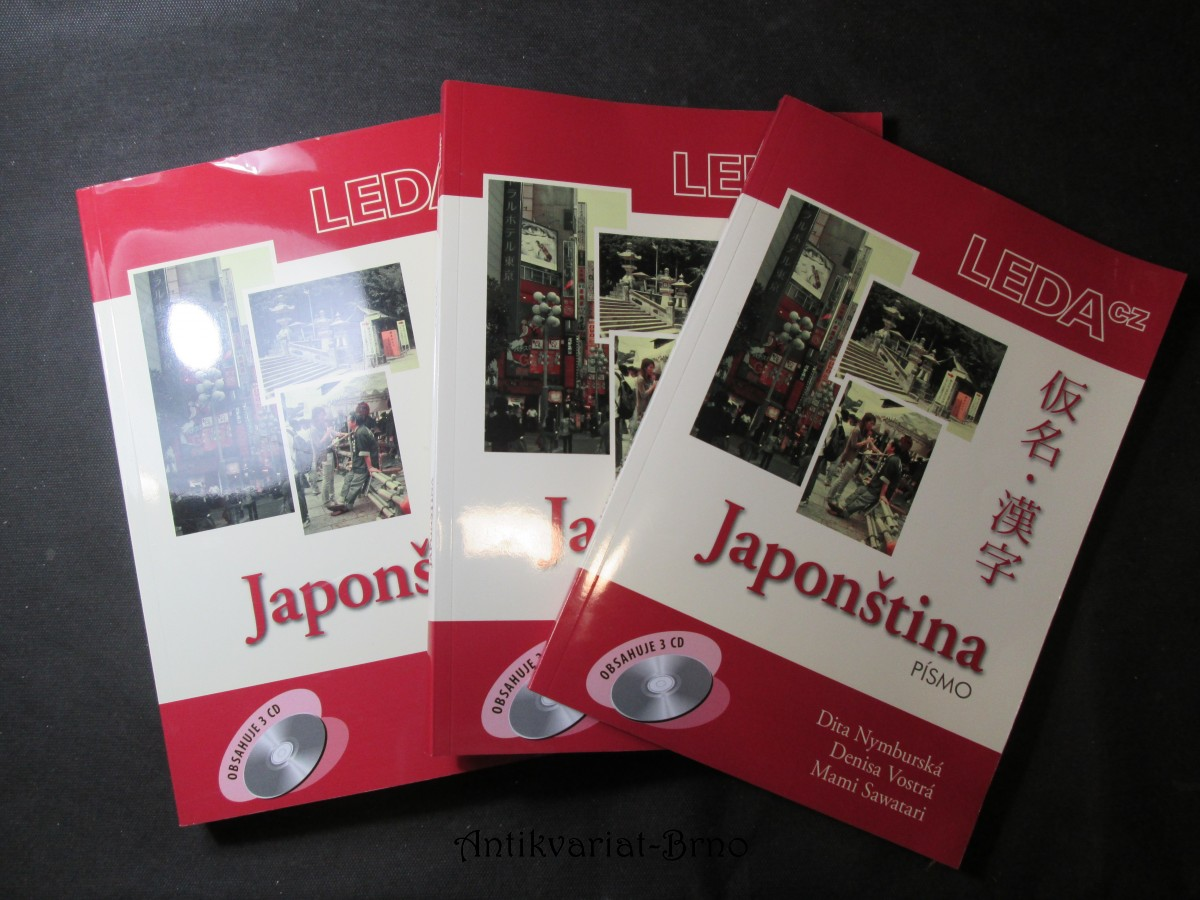 Japonština, slovníčky a klíč, písmo - soubor 3 učebnic
