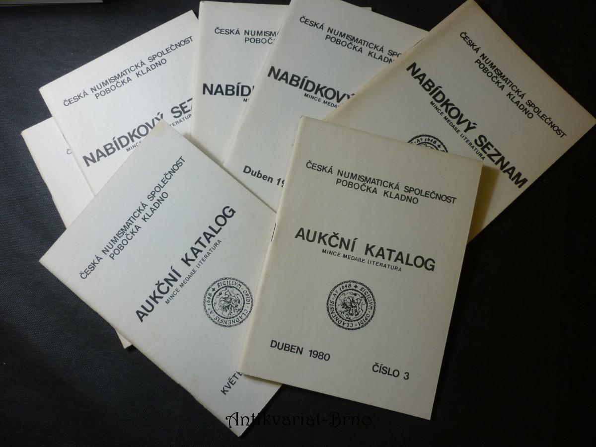 aukční katalog mince medaile literatura