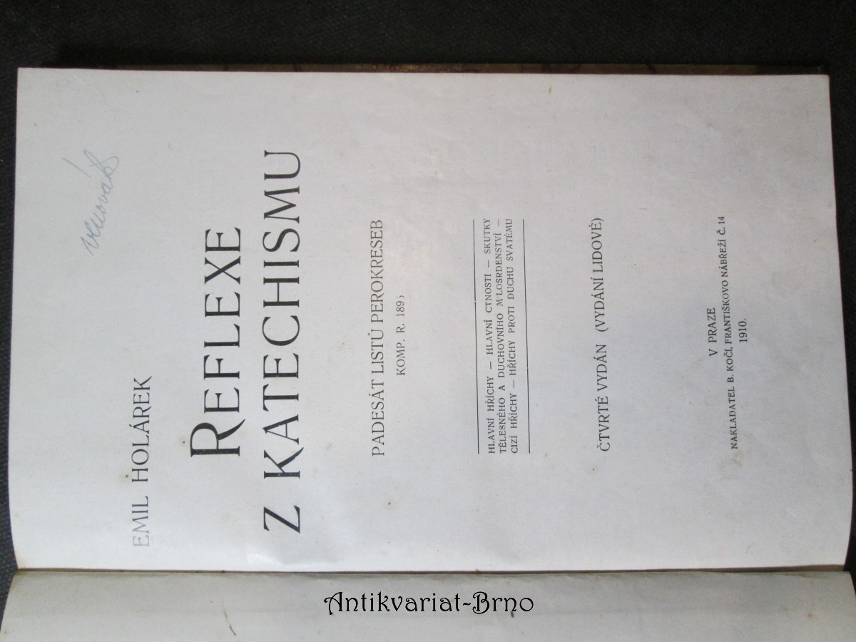 Reflexe z katechismu : Padesát listů perokreseb Komp. r. 1895