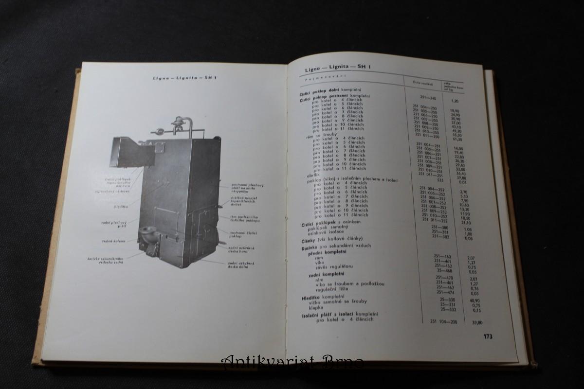 Náhradní součásti litinových článkových vytápěcích kotlů : katalo
