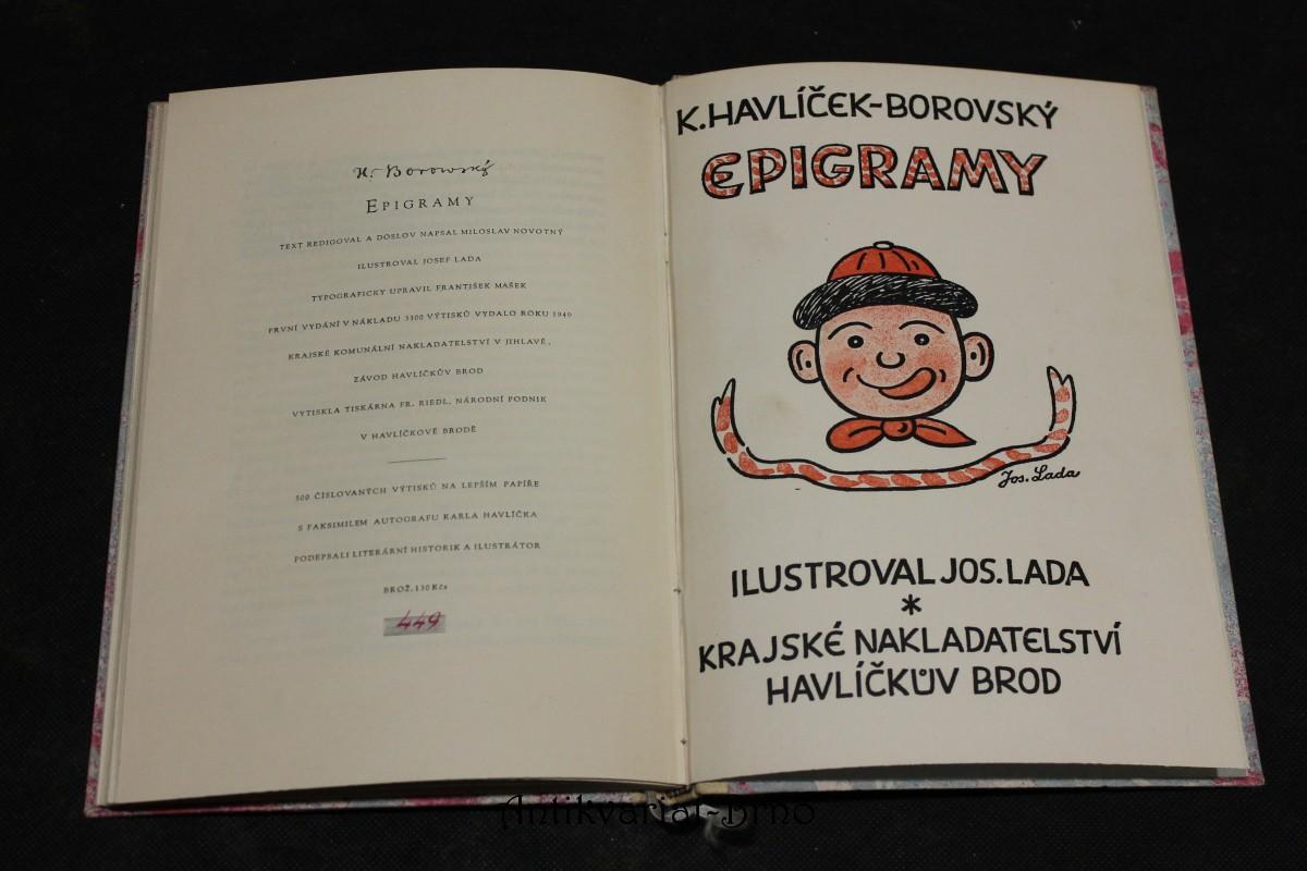 Epigramy, Podpis Josef Lada