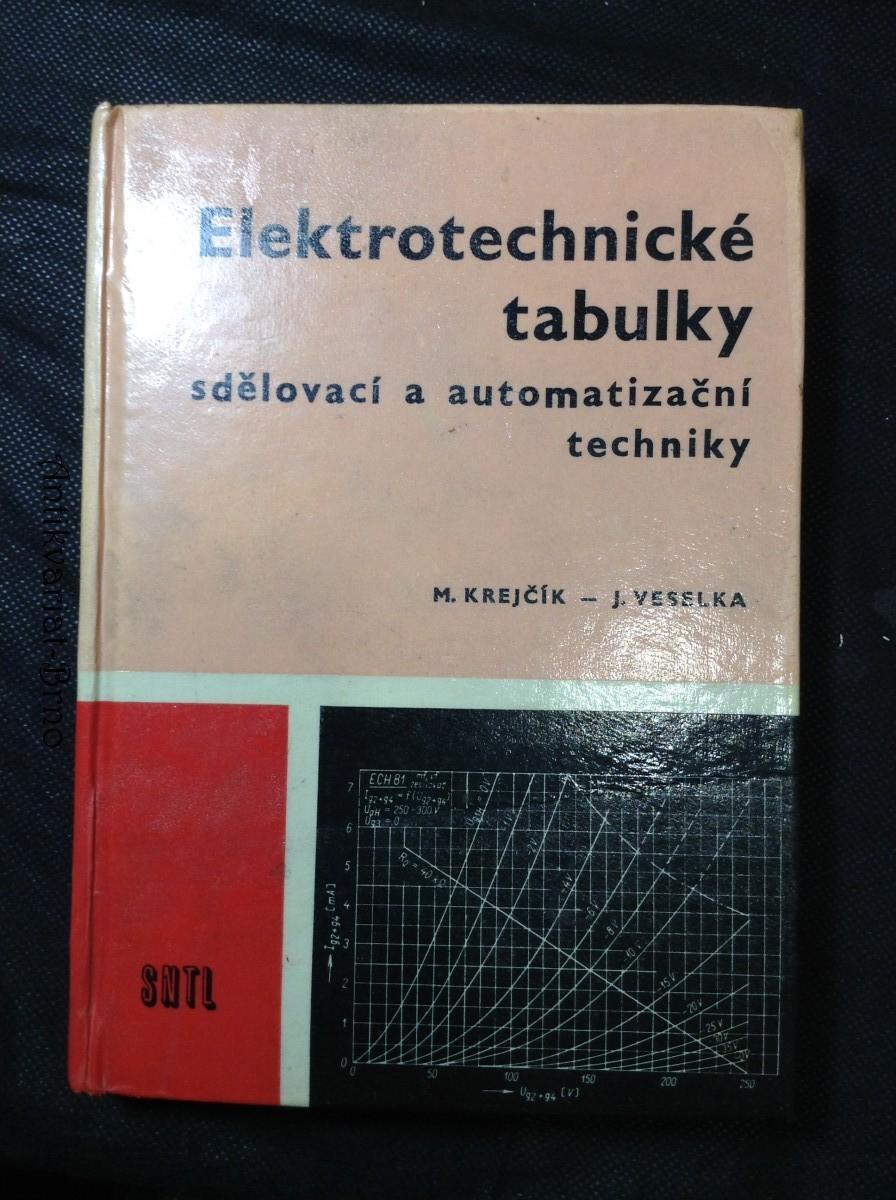 Elektrotechnické tabulky - sdělovací a automatizační techniky