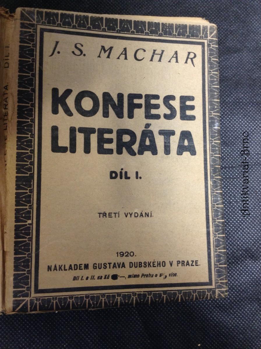 Konfese literáta : psáno v letech 1900-1901