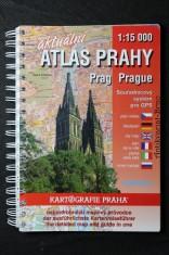 náhled knihy - Aktuální Atlas Prahy. Nejpodrobnejší mapový průvodce.