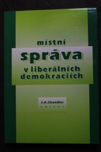 náhled knihy - Místní správa v liberálních demokraciích : úvodní náčrt
