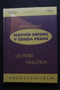 náhled knihy - Slovník definic v českém právu