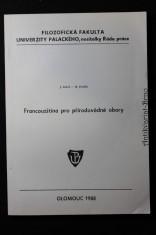 náhled knihy - Francouzština pro přírodovědné obory : Určeno pro posl. Univ. Palackého