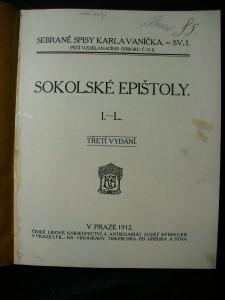 náhled knihy - Sokolské epištoly. I-L