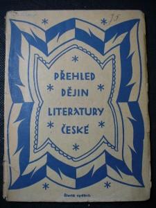 náhled knihy - Přehled dějin literatury české