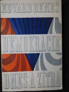 náhled knihy - Demokracie dnes a zítra, podpis Beneš