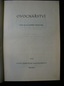 náhled knihy - Ovocnářství : Učební text pro zeměd. techn. školy oboru zahradnického