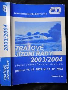 náhled knihy - Traťové jízdní řády 2003/2004