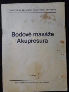 náhled knihy - Bodové masáže - akupresura : met. materiál