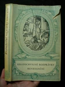 náhled knihy - Kratochvilné rozprávky renesanční : výbor facetií 16. stol.