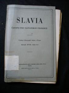 náhled knihy - Slavia - sborník časopisu; ročník XVIII. sešit 3-4