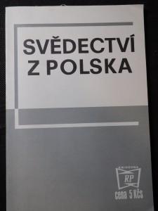náhled knihy - Svědectví z Polska : [Vybrané články z čs. a zahraničního tisku