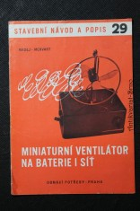 náhled knihy - Miniaturní ventilátor na baterie i síť