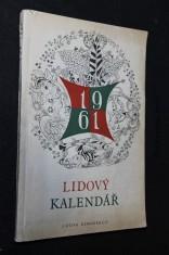 náhled knihy - Lidový kalendář 1961