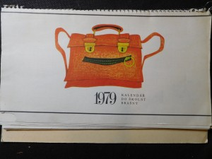náhled knihy - Kalendář do školní brašny 1979