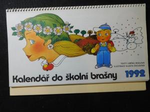 náhled knihy - Kalendář do školní brašny 1992