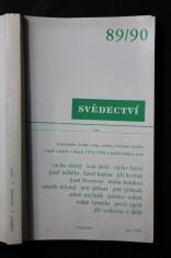 náhled knihy - Svědectví 89/90