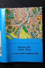 náhled knihy - Seznam ulic města Brna s vývojem jejich pojmenování