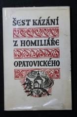 náhled knihy - Šest kázání z Homiliáře opatovického