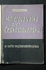 náhled knihy - Hitlerova válka proti Československu ve světle mezinárodního práva