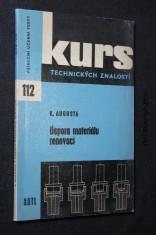 náhled knihy - Úspora materiálu renovací : Zákl. inf., seznamující s používanými způsoby oprav součástí a s jejich ekon. zhodnocením : Určeno dělníkům, učňům a stud.