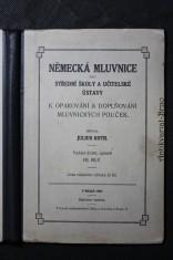 náhled knihy - Německá mluvnice pro střední školy a učitelské ústavy k opakování a doplňování mluvnických pouček