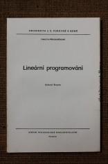 náhled knihy - Lineární programování : určeno pro posl. fak. přírodověd.