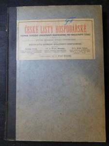 náhled knihy - České listy hospodářské