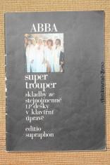 náhled knihy - ABBA : Super Trouper. Skladby ze stejnojmenné LP desky v klavírní úpravě