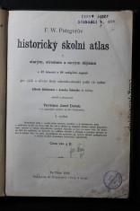 náhled knihy - F. W. Putzgerův historický školní atlas k starým, středním a novým dějinám