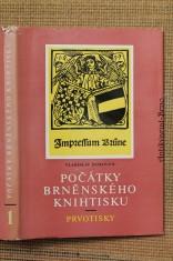 náhled knihy - Bibliografie města Brna. Svazek 1, Počátky brněnského knihtisku : prvotisky
