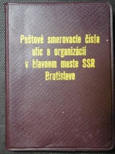 náhled knihy - Poštové smerovacie čísla ulíc a organizacií v hlavnem meste SSR Bratislave