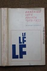 náhled knihy - Brněnská Levá fronta 1929-1933