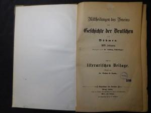 náhled knihy - Geschichte der Deutschen in Böhmen XIV. Fahrgang