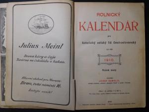 náhled knihy - Rolnické kalendář pro katolický selský lid českoslovanský