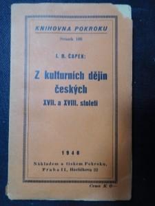 náhled knihy - Z kulturních dějin českých XVII. a XVIII. století