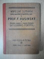 náhled knihy - Kapesní slovník česko-španělský a španělsko-český : Pro cestu a četbu