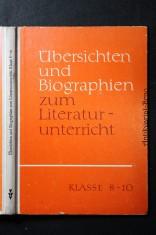náhled knihy - Übersichten und biographien zum Literaturunterricht Klasse 8 - 10