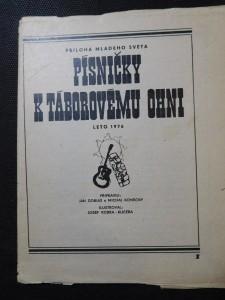 náhled knihy - Písničky k táborovému ohni
