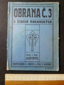 náhled knihy - Obrana č. 3 o Židech moravských