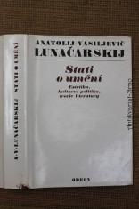 náhled knihy - Stati o umění : estetika, kulturní politika, teorie literatury