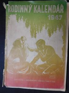 náhled knihy - Rodinný kalendář 1947