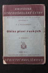 náhled knihy - Ohlas písní ruských