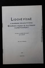 náhled knihy - Lidové písně k pohádkám Václava Čtvrtka : Císařská vojna se sultánem a jiné pohádky