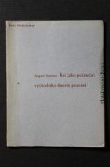 náhled knihy - Řeč jako počáteční východisko theorie poznání